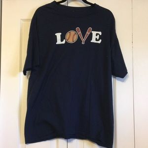 Tops - Love Baseball Shirt